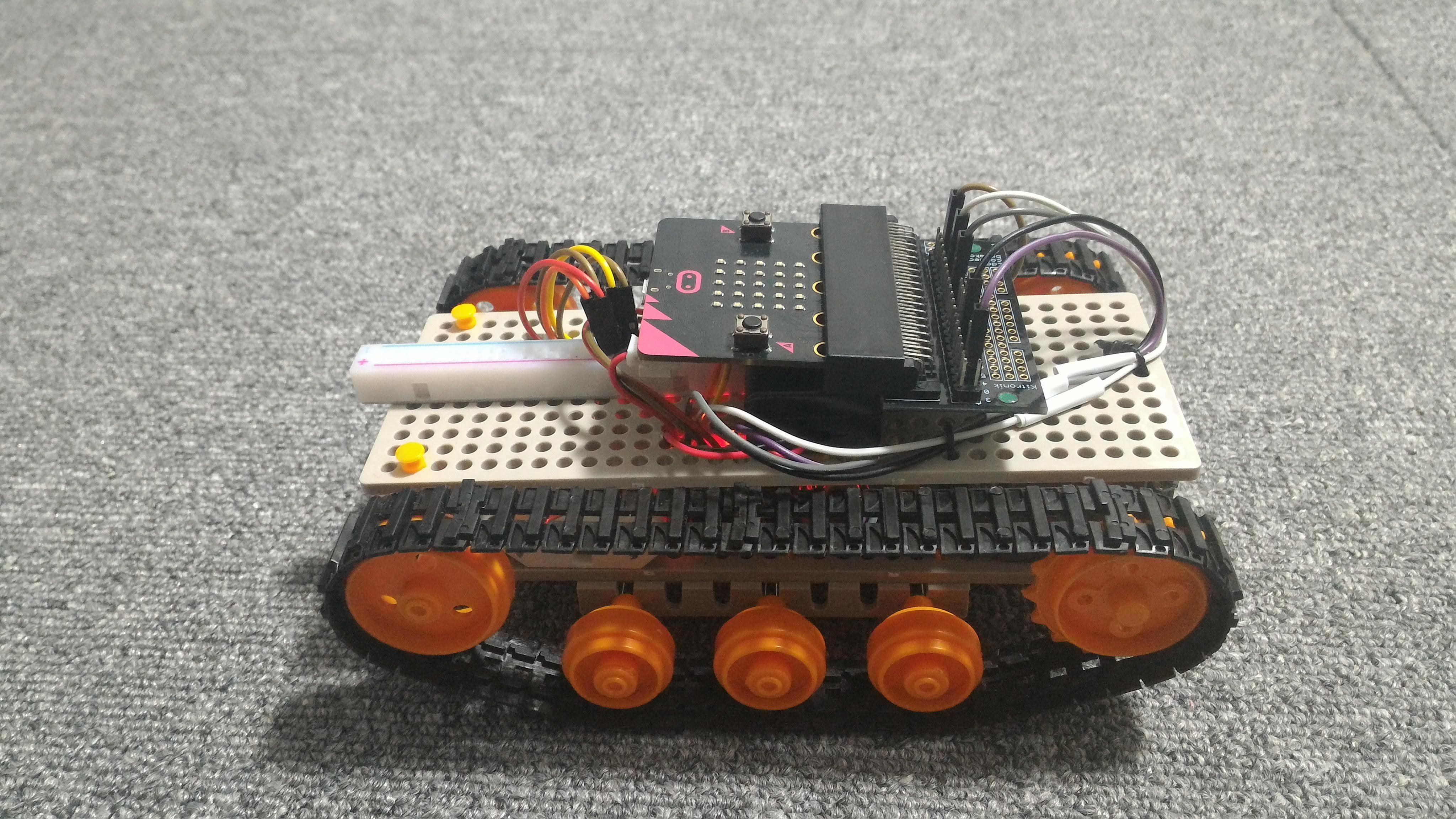 micro:bit 戦車 横